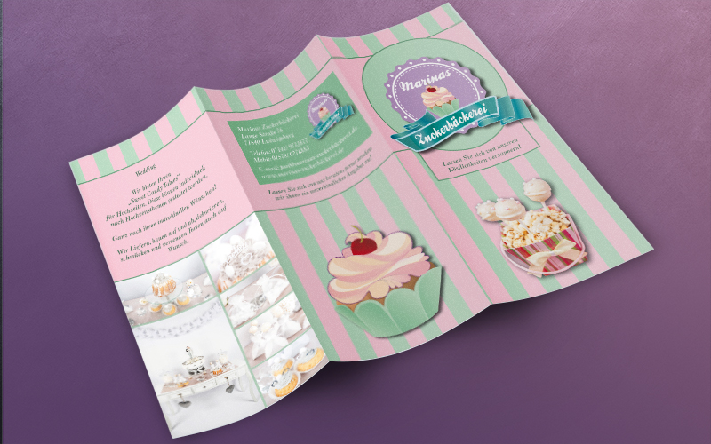 Flyer, Logodesign, cupcakes
