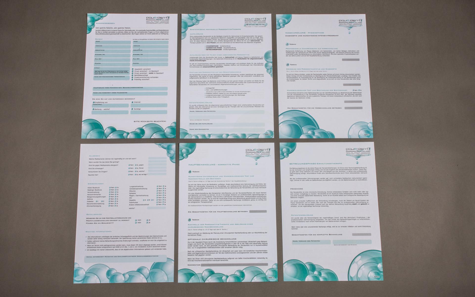 Anamnesebogen Arztpraxis,Corporate Design, Visitenkarten, Flyer, Geschäftspapiere, Logo, Briefpapier, Briefumschläge