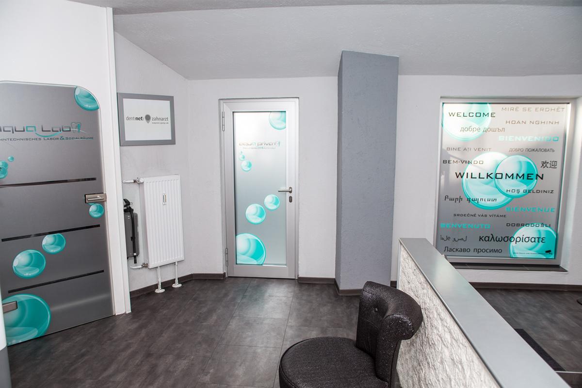 Schaufenster Gestaltung, Arztpraxis, Fenster Beklebung Arztpraxis, Werbetechnik Arztpraxis