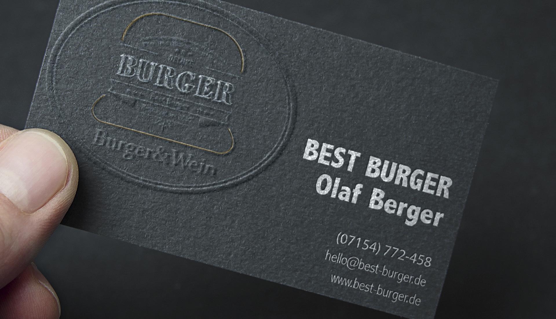 Corporate Design Burger Restaurant, Logo design, Gestaltung von Einladungskarten, Visitenkarten design, Restaurant Design