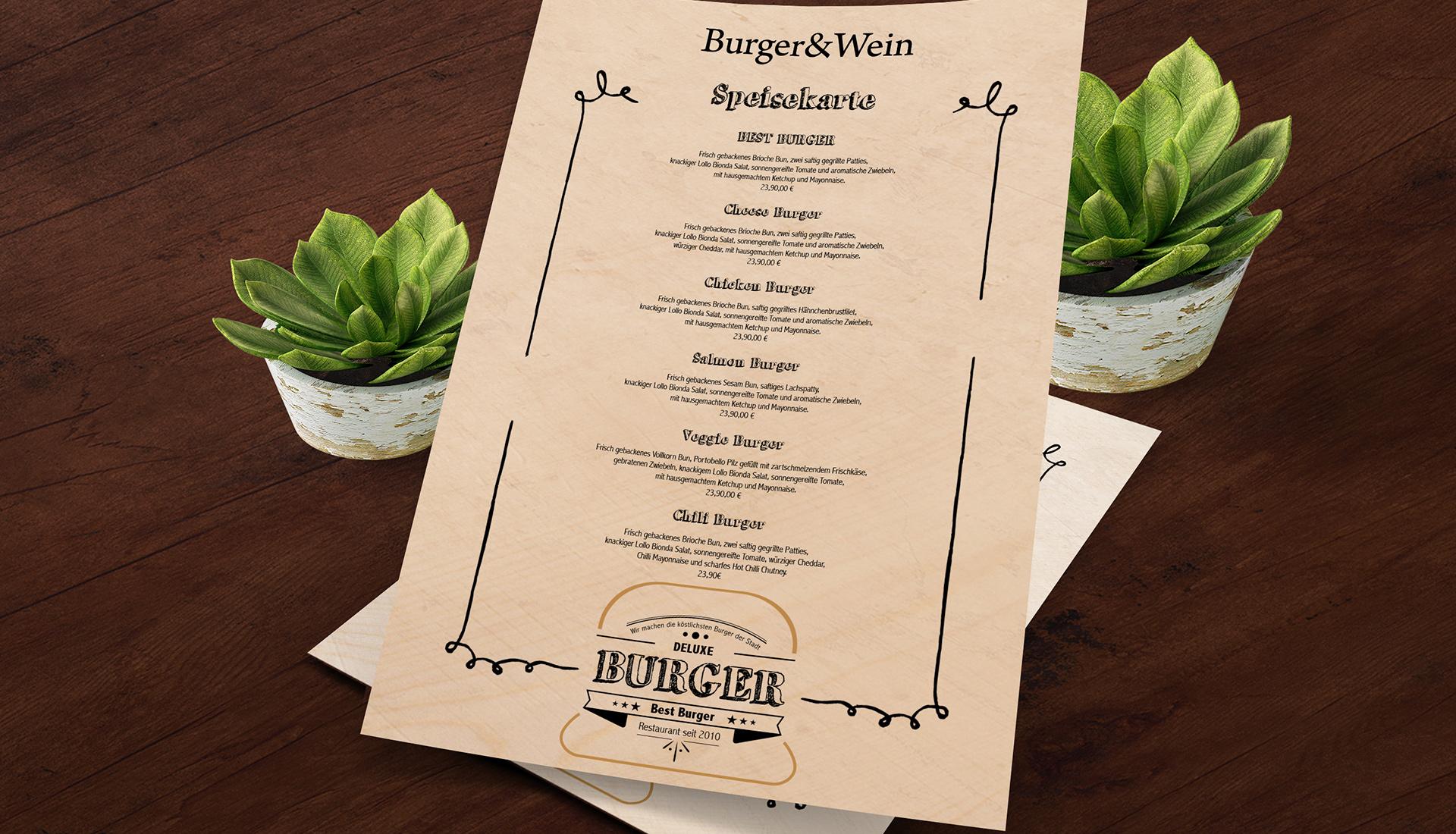 Corporate Design Burger Restaurant, Logo design, Gestaltung von Einladungskarten, Visitenkarten design, Restaurant Design, Menükarten Gestaltung