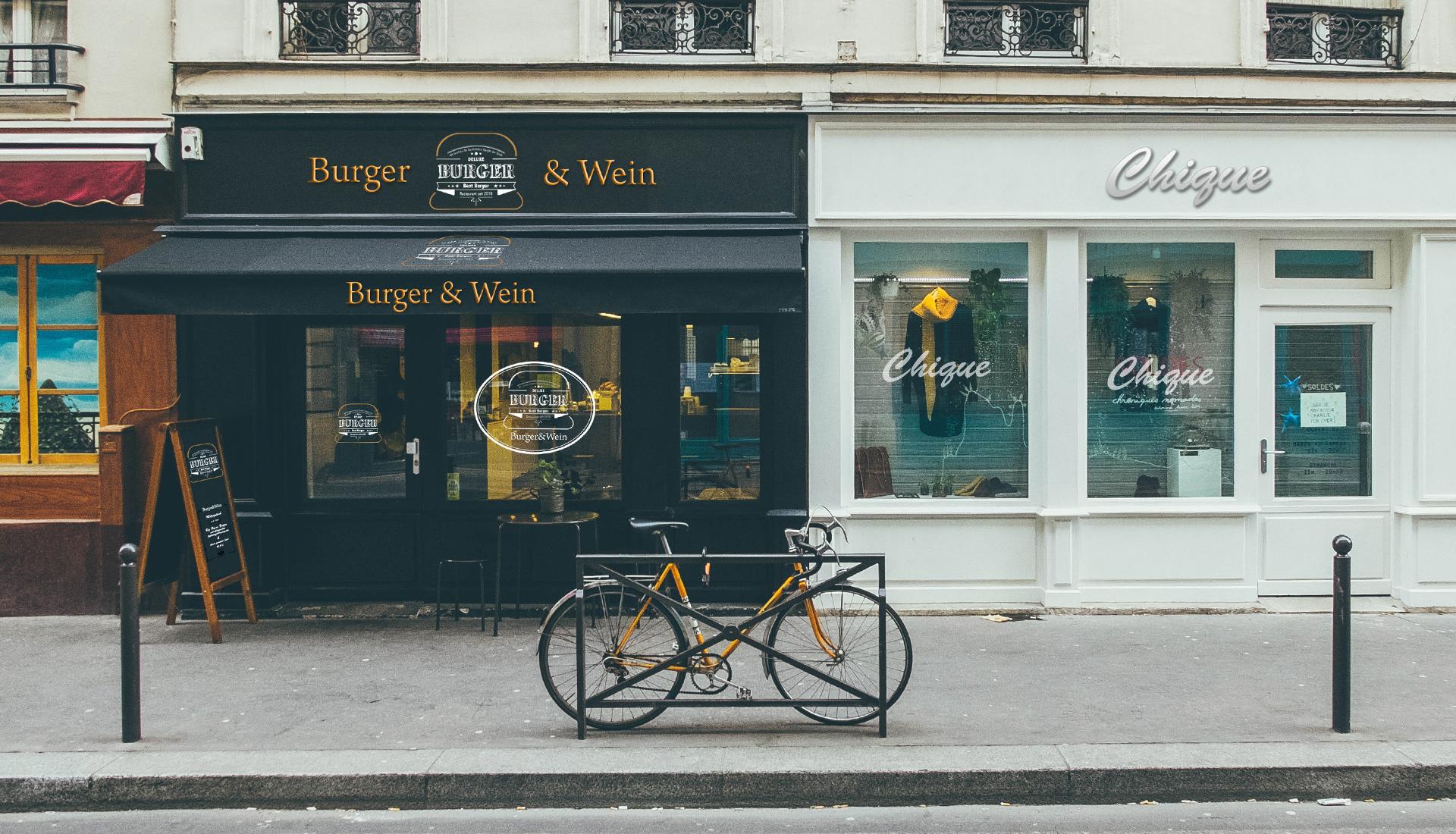 Werbetechnik Ludwigsburg, Logo Design, Branding Burger Restaurant